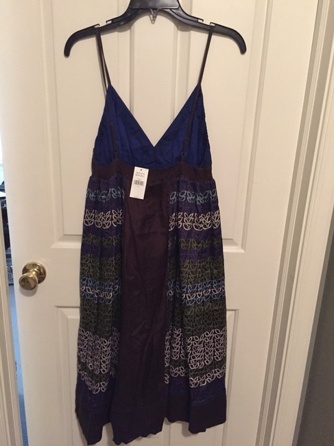 Banana Republic short dress blue & brown print on Tradesy