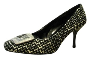 Pelle Moda B&W Tweed Pumps