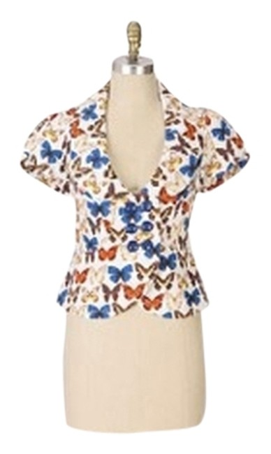 Preload https://item4.tradesy.com/images/anthropologie-tan-orange-brown-blue-butterflies-skippers-and-sulphers-jacket-blouse-size-4-s-3628183-0-0.jpg?width=400&height=650