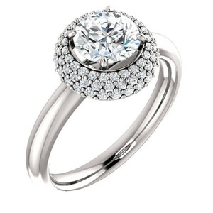 1.46 Ct D/vs2 Round Diamond Solitaire Engagement Ring 14 K White Gold