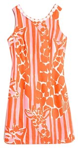 Lilly Pulitzer short dress Pink and Orange Giraffing me Crazy on Tradesy