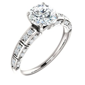 1.48 Ct D/si1 Round Diamond Solitaire Engagement Ring 14 K White Gold
