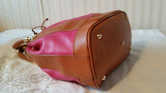 Valentina Satchel in Coral and pink