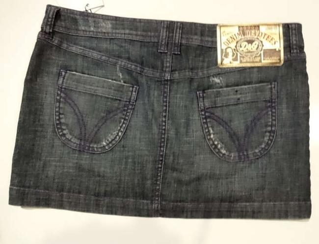 Dolce&Gabbana D&g Dolce & Gabbana Denim Devoters Jean Mini 28 Size 28 Night Out Watercolor Mini Skirt Blue