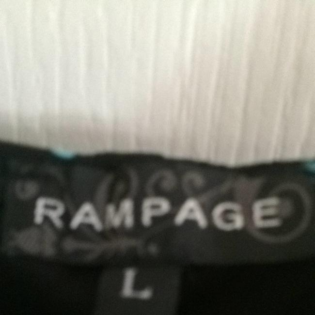 Rampage short dress Black With Teal Polkadots on Tradesy