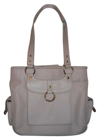 Preload https://item2.tradesy.com/images/maxx-new-york-trim-beige-polyester-and-leather-tote-362931-0-0.jpg?width=440&height=440
