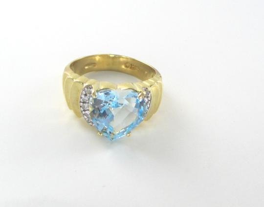 Other 10KT SOLID YELLOW GOLD HEART RING SZ 6.5 WEDDING BAND ENGAGEMENT 10 DIAMONDS