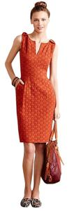 Anthropologie Work Orange Cocktail Dress