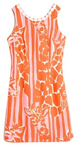 Lilly Pulitzer short dress Orange and Pink Giraffing me Crazy on Tradesy