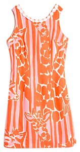Lilly Pulitzer for Target short dress Pink and Orange Giraffing Me Crazy on Tradesy
