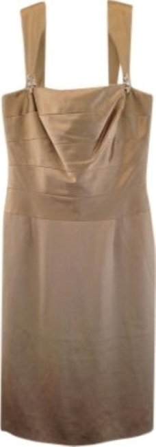 Preload https://img-static.tradesy.com/item/36308/talbots-champagne-gold-elegant-silk-jewel-rhinestone-strap-knee-length-cocktail-dress-size-6-s-0-0-650-650.jpg