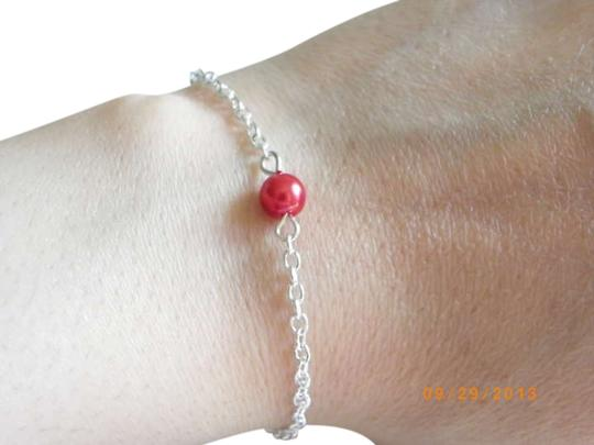 Other Single glass red pearl bracelet