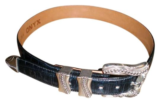 Onyx Nite Black Leather Belt