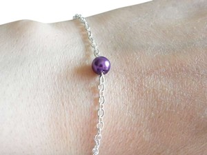 Other Single Glass purple Pearl Bracelet Jewelry