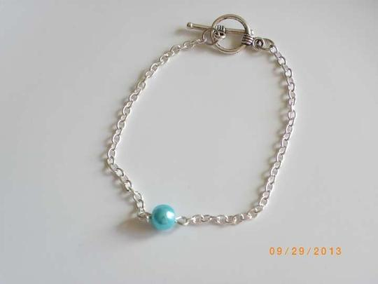 Other Single Glass blue Pearl Bracelet Jewelry