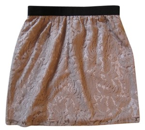 Ann Taylor LOFT Lace Mini Mini Skirt Blush