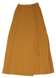 Chanel Vintage 17 Pleats Skirt Mustard