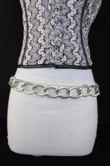 Other Women Silver Gold Chunky Metal Chain Links Fashion Belt Necklace 38-43