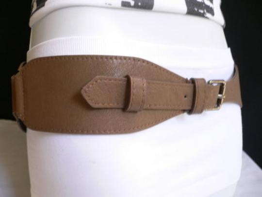 Other Women Hip Waist Elastic Taupe Long Fashion Belt Metal Buckle 28-36