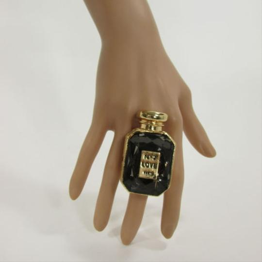 Other Women Gold Metal Perfume Bottle Fashion Ring No Love Paris Elastic Band