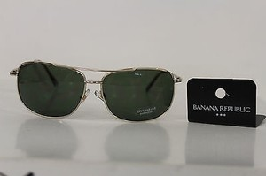 Banana Republic Banana Republic Men Women Fashion Sunglass Silver Brown Aviator Lens 100uvauvb