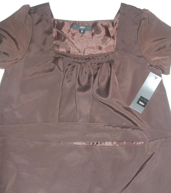 Preload https://item1.tradesy.com/images/mossimo-supply-co-brown-chocolate-short-sleeve-shift-tunic-womens-clothing-m-mid-length-formal-dress-3632005-0-0.jpg?width=400&height=650