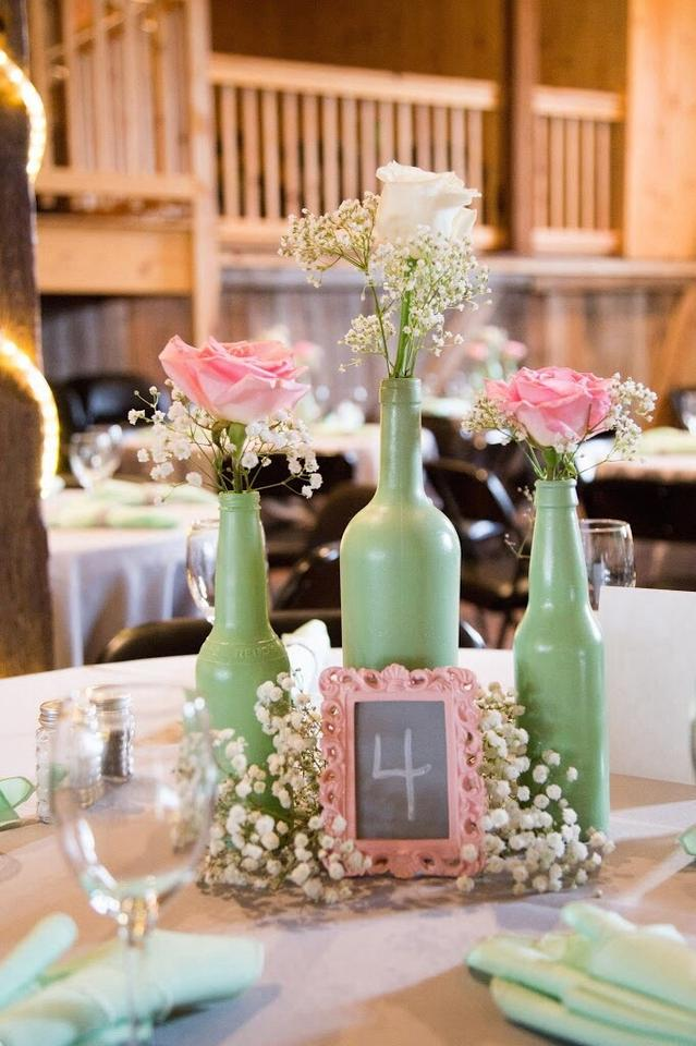 Light Pink and Gray Mini Frame Table Numbers Centerpiece - Tradesy
