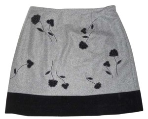 Ann Taylor Mini Skirt grey & black