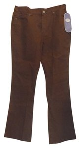 DG2 by Diane Gilman Boot Cut Pants Brown
