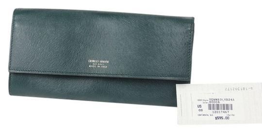 Giorgio Armani * Giorgio Armani Button Wallet in Printed CalfSkin - Green