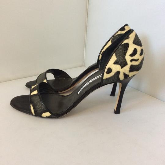 Manolo Blahnik Animal Print Sandals