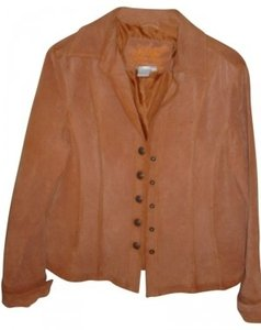 Live A Little Redish Brown Leather Jacket