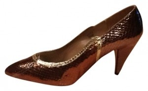 J. Reneé Gold/copper Pumps