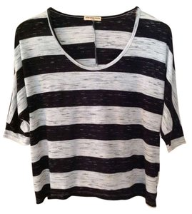 Cha Cha Vente T Shirt Black and gray stripe