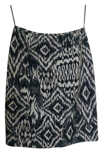 Lafayette 148 New York Skirt Black White Grey