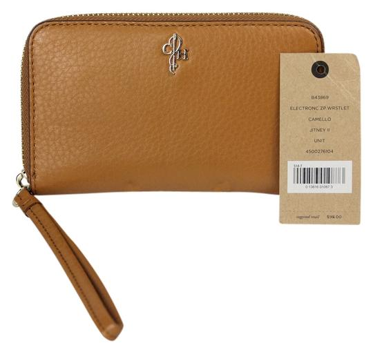 Preload https://item3.tradesy.com/images/cole-haan-brown-pebbled-leather-jitney-electronic-zip-around-camello-wristlet-wallet-3633832-0-0.jpg?width=440&height=440