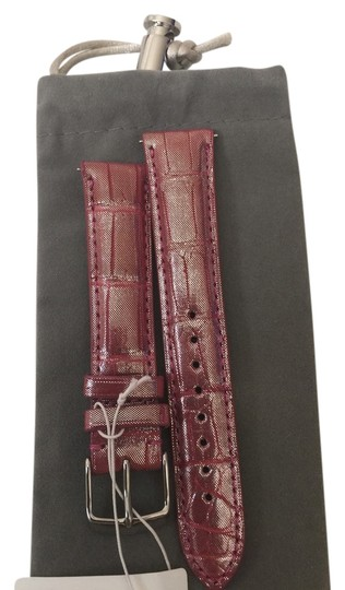 Michele NWT MICHELE ORCHID ICE ALLIGATOR STRAPS 18mm