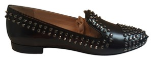 Prada Leather Studded dark brown Flats
