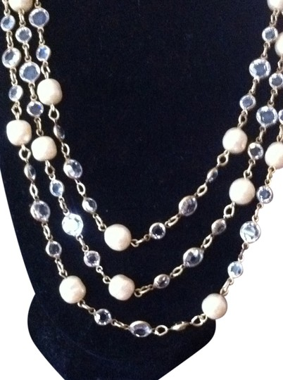 Chanel Vintage Chanel Pearl and Crystal Necklace Sautoir 1981