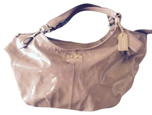 Coach Satchel in Putty patent leather