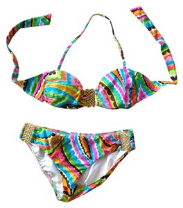 Trina Turk Trina Turk Bikini with Gold Hardware