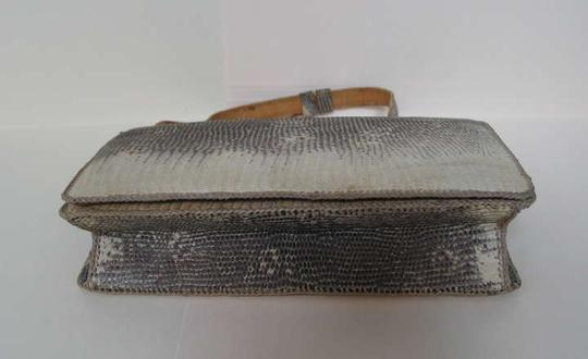 VINTAGE snake beige and brown Clutch