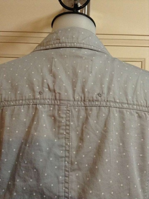 Caslon Light Blazer Nordstrom Grey/ white polka dots Jacket