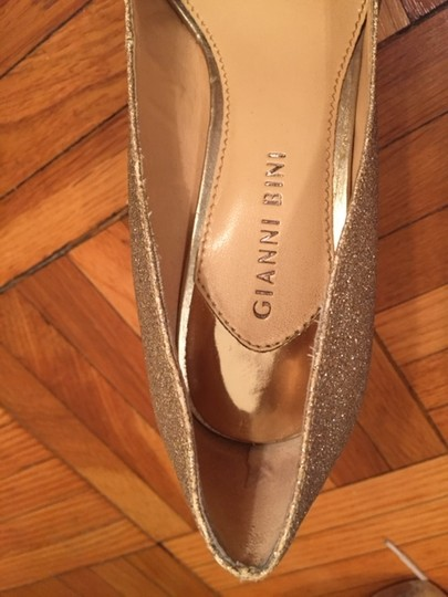 Gianni Bini Gold Pumps