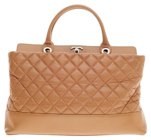 Chanel Calfskin Medium Tote in Beige