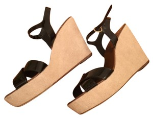 J.Crew Black and tan Wedges