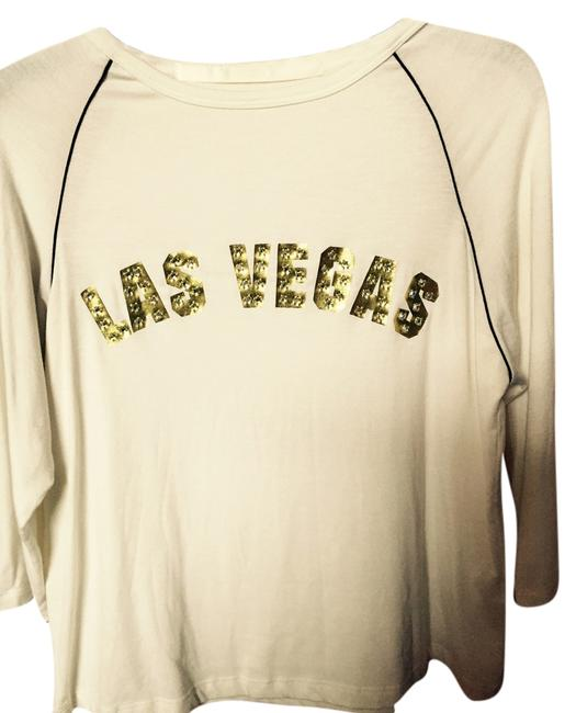 Preload https://item5.tradesy.com/images/ivory-las-vegas-in-gold-lame-and-swarovski-rhinestones-blouse-size-8-m-3635179-0-0.jpg?width=400&height=650