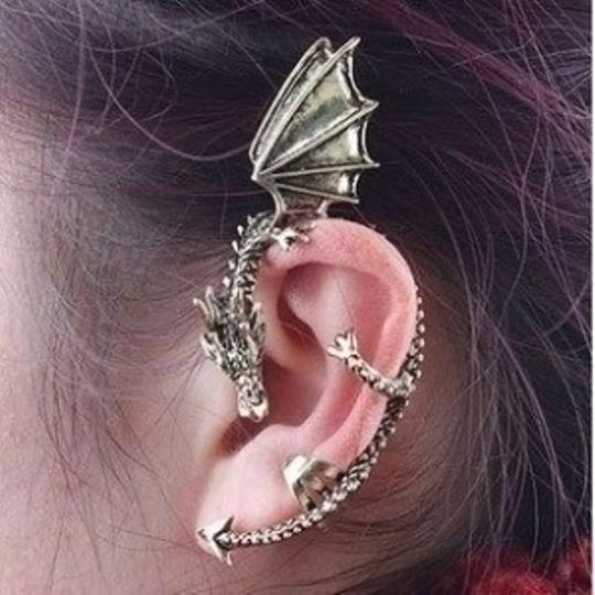 Preload https://item3.tradesy.com/images/silver-dragon-ear-cuff-cartilage-wrap-earrings-36352-0-1.jpg?width=440&height=440