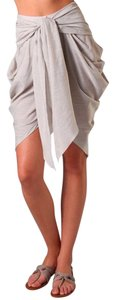 Jen Kao Tie Striped Summer Bermuda Shorts Sand