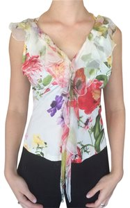 Roberto Cavalli European Floral Top Multi Color